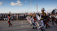 Image licensed to Lloyd Images<br /> The Royal Yacht Squadron Fleet Review. Cowes. Isle of Wight. UK. As part of 200th anniversary of the Royal Yacht Squadron. The Duke of Edinburgh watches &quot;Beat The Retreat&quot;.<br />  Credit - Lloyd Images