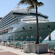A beautiful Cruise Ship at dock, Mallory Square, Key West, Florida.