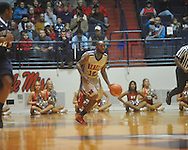 """Ole Miss guard Chris Warren (12) at the C.M. """"Tad"""" Smith Coliseum on Friday, November 26, 2010. Ole Miss won 84-71."""