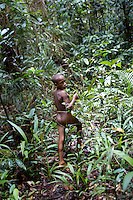 Young Kombai boys of to forage in the forest. West Papua is home to over 300 tribes. They have inhabited the island for more than 40,000 years. Many of the last remaining tribal cultures on our planet can be found in West Papua. An astounding 15% of the world's languages are spoken there, by just 0.01% of the global population.