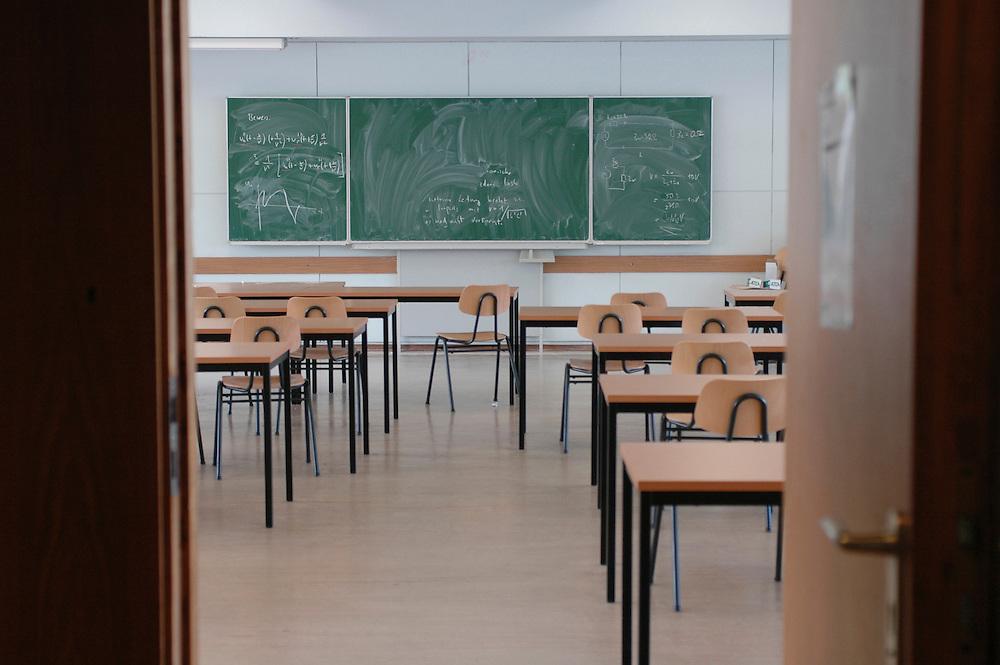 Salle de cours, TFH, Université des sciences appliquées de Berlin, Allemagne.