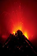 Volcano erupting, Hawaii Volcanoes National Park, Hawaii