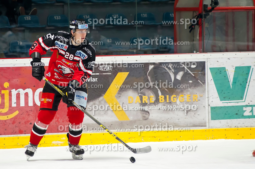 10.01.2016, Ice Rink, Znojmo, CZE, EBEL, HC Orli Znojmo vs Fehervar AV 19, 43. Runde, im Bild Marek Biro (HC Orli Znojmo) // during the Erste Bank Icehockey League 43th round match between HC Orli Znojmo and Fehervar AV 19 at the Ice Rink in Znojmo, Czech Republic on 2016/01/10. EXPA Pictures © 2016, PhotoCredit: EXPA/ Rostislav Pfeffer