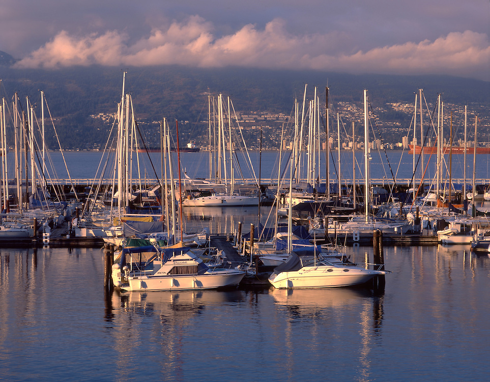 Boats in English Bay,Vancouver, British Columbia, Canada