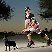 Tampa Bay Derby Darlins, Roller Girl Portrait, St. Petesburg, FL
