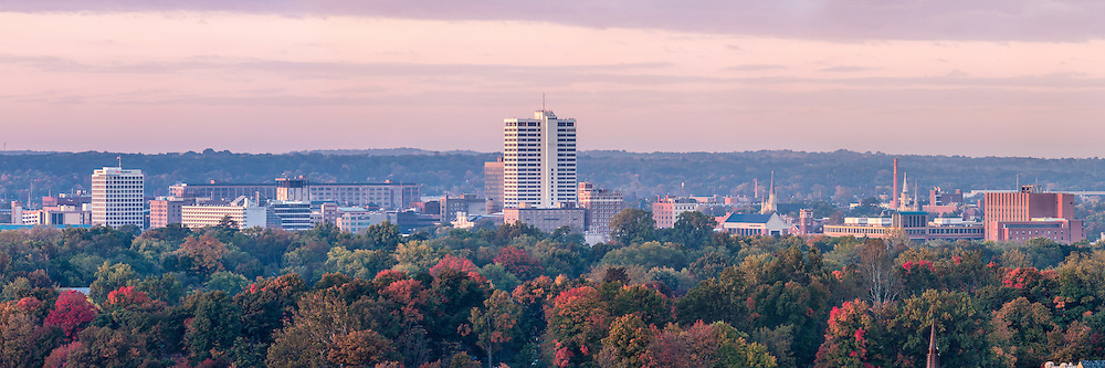 Oct. 8, 2014; Panorama of downtown South Bend, IN. (Photo by Matt Cashore)