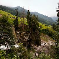 Golzern, Switzerland - Maderanertal landscape.