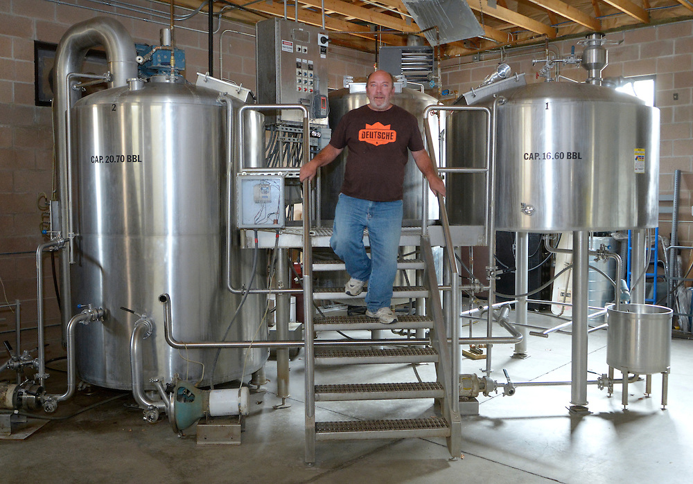 gbs121216e/VENUE -- Owner Mike Campbell in the Brewing room at the Drafty Kilt Brewery at 4814 Hardware NE on Monday, December 12, 2016. (Greg Sorber/Albuquerque Journal)