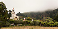 Spanish-American style church along Highway 1, near Big Sur, California.