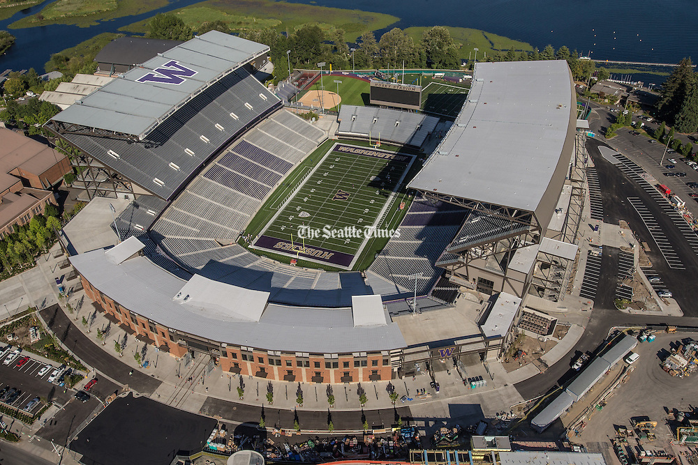 A newly renovated Husky Stadium ready to make its debut in a rematch of UW against Boise State.<br />