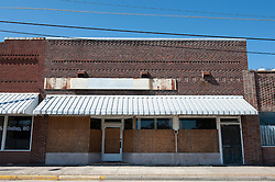 boarded up store in South Carolina