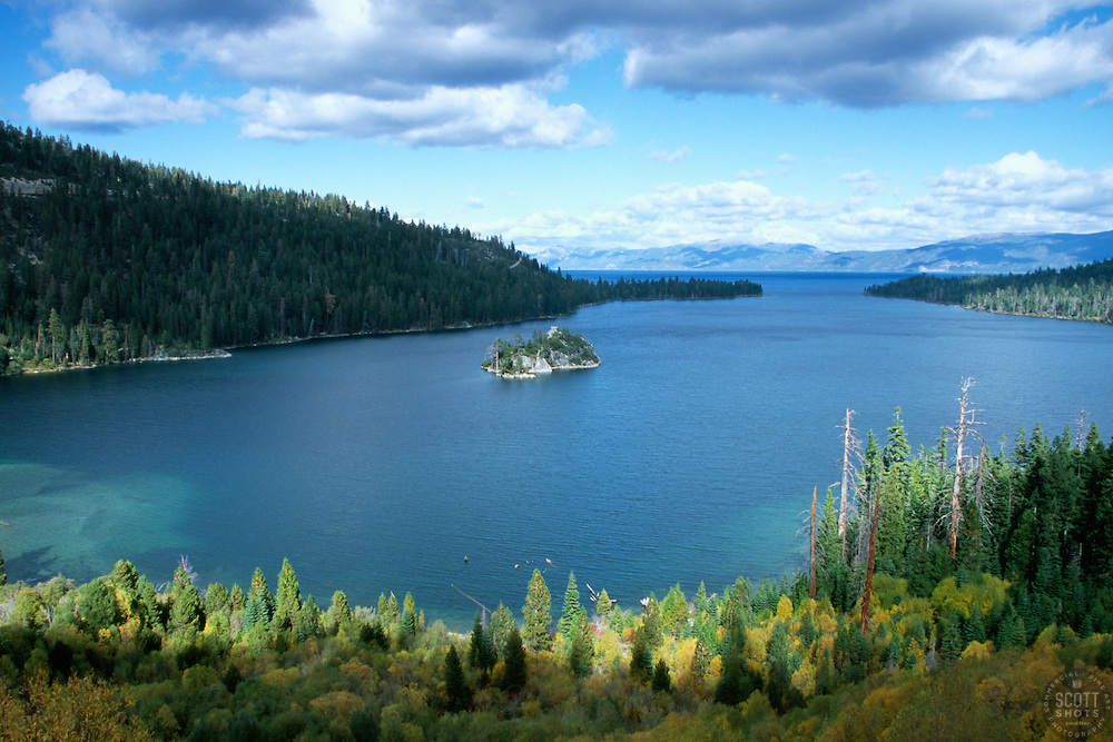 &quot;Emerald Bay in Autumn&quot;- Photographed facing northeast at Emerald Bay, in Lake Tahoe, CA.<br />