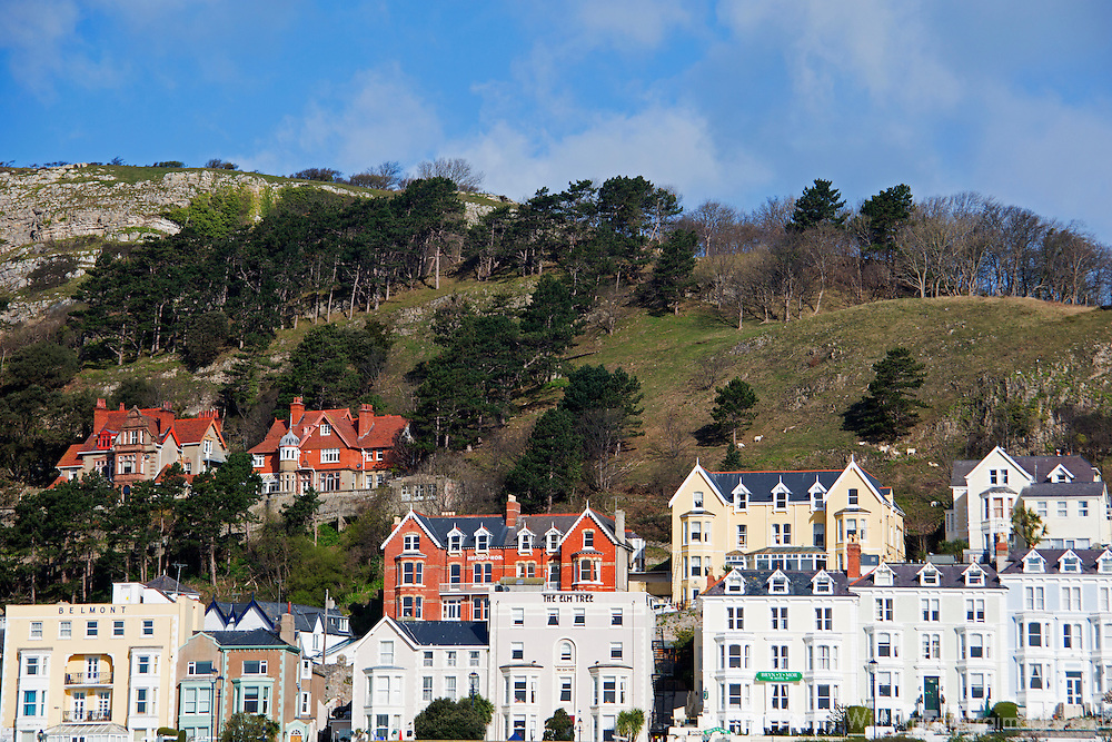 Europe, United Kingdom, Wales, Llandudno. Victorian Houses of Llandudno.