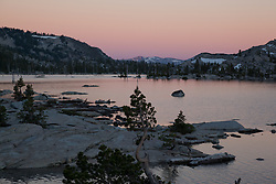 """Lake Aloha Sunset 1"" - Photograph at sunset of Lake Aloha located in the Tahoe Desolation Wilderness."