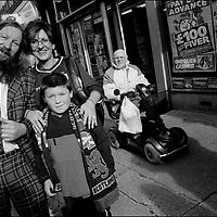 'GovanHell', portrait of a community. Govanhill, Glasgow, Scotland, UK. (Approx Date 2001)