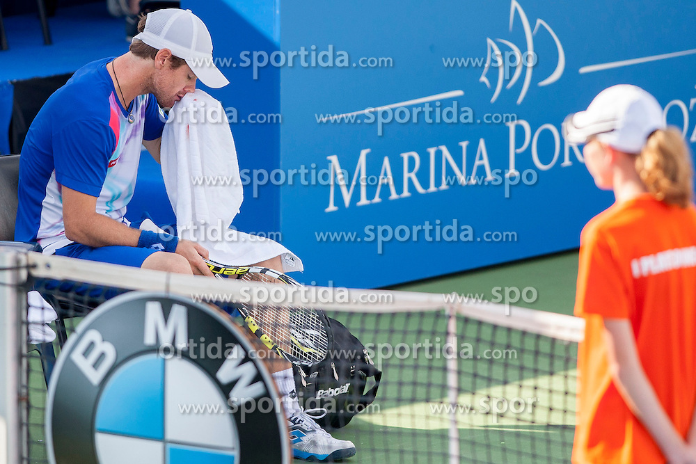Blaz Kavcic of Slovenia in quarterfinal during Day 5 of ATP Challenger Tilia Slovenia Open 2014 on July 11, 2014 in Tennis stadium SRC Marina, Portoroz / Portorose, Slovenia. Photo by Urban Urbanc / Sportida