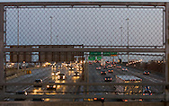 The Kennedy Expressway in Chicago is flowing pretty well after rush hour.