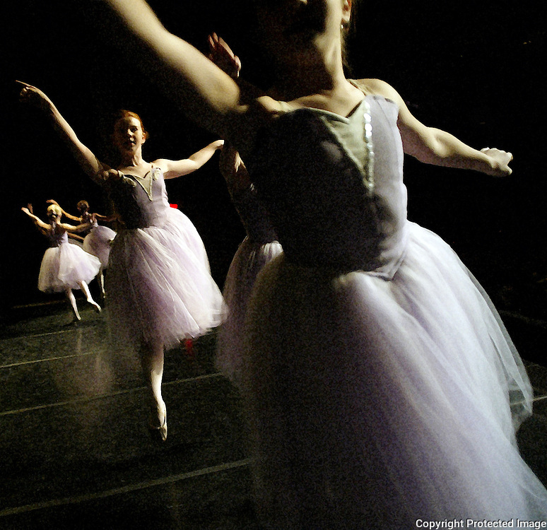 """Young dancers perform the """"Dance of the Sugar Plums"""" during the Nutcracker ballet in Des Moines, Iowa."""