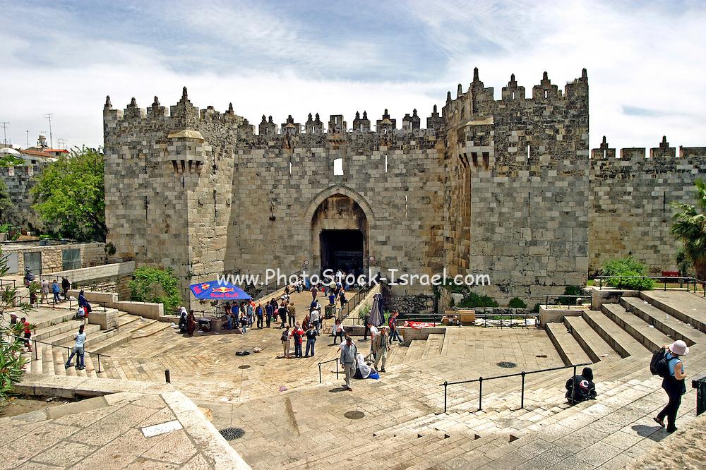 Israel old city of Jerusalem The Damascus Gate
