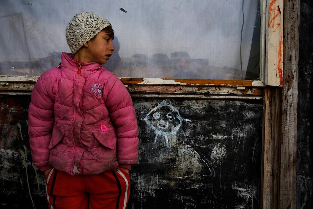 Roma living in the Belville camp in New Belgrade.
