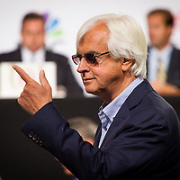 April 30, 2014: Trainer, Bob Baffert at the Post Position Draw at Churchill Downs in Louisville Ky. Alex Evers/ESW/CSM