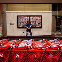 SARASOTA, FL -- November 25, 2011 -- (PHOTO / CHIP LITHERLAND) -- As the rush died down shoppers got a closer look at the deals at the Super Target on University Avenue for the Black Friday deals in Sarasota, Fla., early on Friday, November 25, 2011.  The chain has joined many other stores opening at midnight on Thanksgiving Day with door buster deals that attract hundreds of wallets and lines around the block.