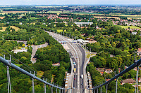 Humber Bridge, Hessle, East Yorkshire, United Kingdom, 15 July, 2015. Pictured: Views from the north tower ob the Humber Bridge