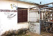 Barbershop in Moron, Ciego de Avila, Cuba.
