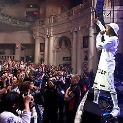 London, UK - 21 May 2013: A$AP Rocky performs live at O2 Academy Brixton