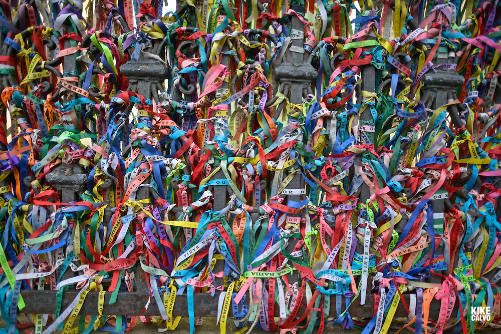 Lucky ribbons tied around at Igreja Nosso Senhor do Bonfim church, Salvador (Salvador de Bahia), Bahia, Brazil, South America