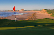 The Links at Crowbush Cove Golf Course, beach and sand dunes; Prince Edward Island, Canada..