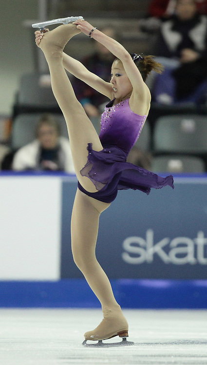 -20101029- Kingston, Ontario,Canada--<br /> Fumie Suguri of Japan skates her short program at Skate Canada International in Kingston, Ontario, October 29, 2010.<br /> AFP PHOTO/Geoff Robins
