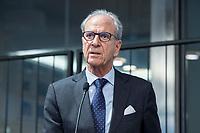 29 MAR 2017, BERLIN/GERMANY:<br /> Dr. Juergen Heraeus, Praesident B20, Vorsitzender von UNICEF Deutschland, Aufsichtsratsvorsitzender der Firma Heraeus, haelt eine Rede, Veranstaltung des Wirtschaftsforums der SPD und der Business 20, B20: &quot;Global Governance in Zeiten der Globalisierungsskepsis - Impulse aus der G20-Wirtschaft&quot;, Quartier Zukunft der Deutschen Bank<br /> IMAGE: 20170329-02-101<br /> KEYWORDS: Dr. J&uuml;rgen Heraeus