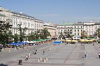 The Main Market Square in Krakow Poland