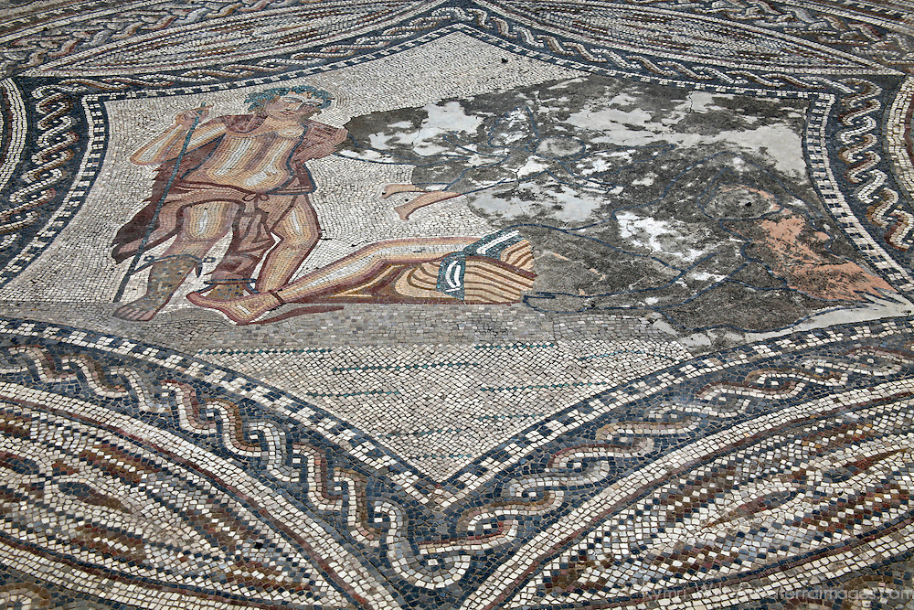 Africa, Morocco, Volubilis. Mosaic work of Volubilis.