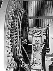 A monstrous electric motor used to power a equally monstrous water pump in a mine, Jerome, AZ