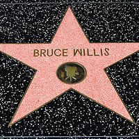 Bruce Willis Star on Hollywood Walk of Fame in Hollywood, California<br />