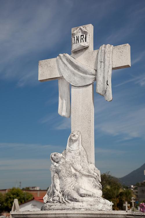 Mexican Cemetery 19 - Photograph taken in El Panteón Cementario, also know as Cementario Viejo or old cemetery, in Puerto Vallarta, Mexico.