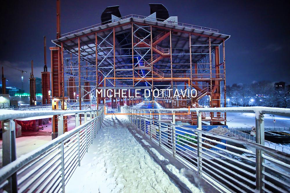 Parco Dora Torino.  Il parco realizzato lungo la Dora sulle aree occupate fino agli anni Novanta dai grandi stabilimenti produttivi della Fiat e della Michelin, integra ambienti naturalistici e preesistenze derivanti dal passato industriale e costituisce il cuore della trasformazione di Spina 3