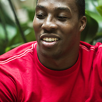 15 June 2011: Orlando Magic Dwight Howard is seen during an interview by french basketball magazine Reverse, at Park Hyatt hotel, in Paris, France.