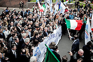 ROME. THE MINISTERS OF BERLUSCONI GOUVERNMENT DURING THE DEMONSTRATION OF PEOPLE OF FREEDOM PARTY