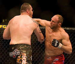 March 3, 2007 - Columbus, OH - Tim Sylvia and Randy Couture face off during their UFC 68 heavyweight championship bout at Nationwide Arena in Columbus, OH.  (RAW File on Request)
