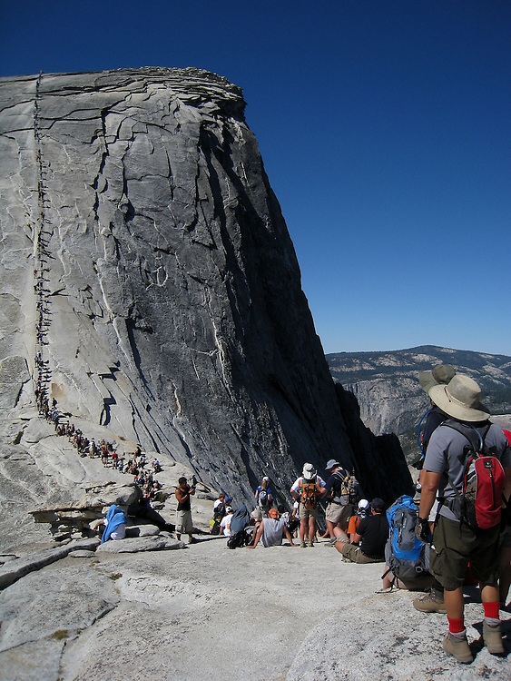 Images from the hike up to Half Dome, in California's Yosemite National Park. The lines to get up to the top were enormous, so most people turned round and headed down at this point, including my husband and me.