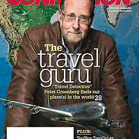 Peter Greenberg on the cover of Feb, 2016 Costco lifestyle magazine. Photographed for Costco. <br /> <br /> To view or license images, click here: http://archive.toddbigelowphotography.com/gallery/Peter-Greenberg-for-Costco/G0000QV1bqKprVQM