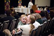 Bethanie Westgate kisses her son Samuel during worship on Friday, Jan. 27, 2017, in Arlington, Va. LCMS Communications/Erik M. Lunsford