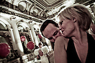 A couple on the dancefloor during the Polish Ball at the Plaza Hotel in New York