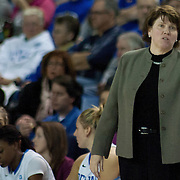 Delaware Women's Head coach Tina Martin in action in the first half of a regular season NCAA basketball game against George Mason Thursday, Jan 10, 2013 at the Bob Carpenter Center in Newark Delaware...Delaware (10-3; 1-0) defeated George Mason (5-8; 0-2) 62-27..Delaware is riding a four-game winning streak after defeating George Mason, St. John's in over- time on Jan. 2 and Villanova (Dec. 29) and Duquesne (Dec. 30) to capture the 2012 Dartmouth Blue Sky Classic title.