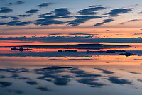 Clouds over Lake Huron during a calm morning at the Straits