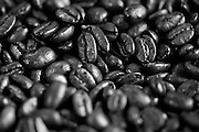 ANCHORAGE, ALASKA - 2013: The roasting process at Cafe Del Mundo.