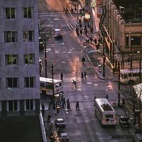 Evening commuters, Seattle, Washington
